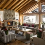 The lounge area of Chalet Mistral