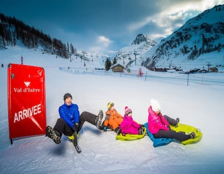 Tobogganing Val d'Isere Family activities in Val dIsere 3- The Chalet Edit