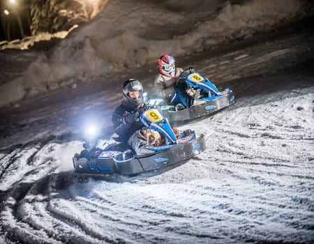 Family activities in Val dIsere Ice Karting - The Chalet Edit